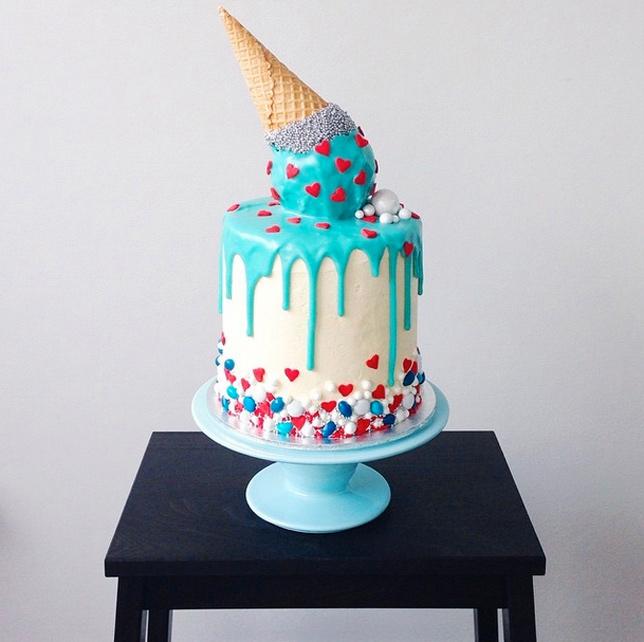 glitter-ice-cream-cone-cake